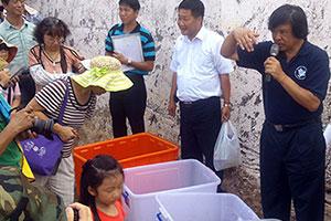 海大程一駿教授分享海龜救傷過程,以及海洋生態保育知識
