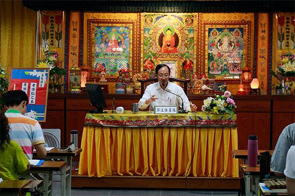 福智文教基金會執行長郭基瑞與大眾分享孝悌是教育的根本