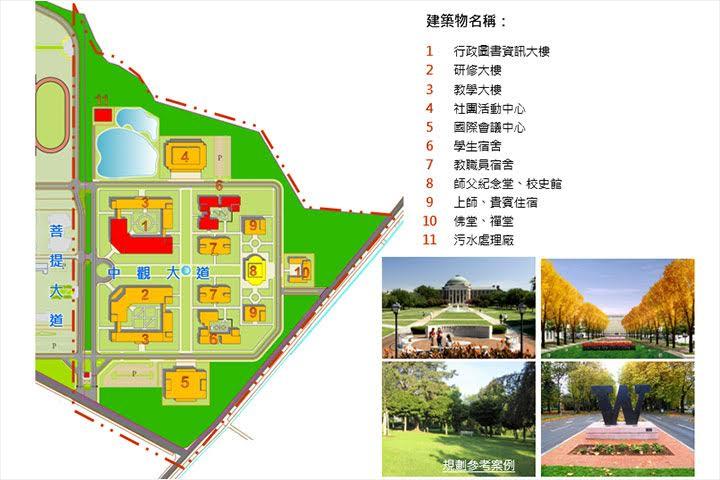 福智佛教學院建物配置圖