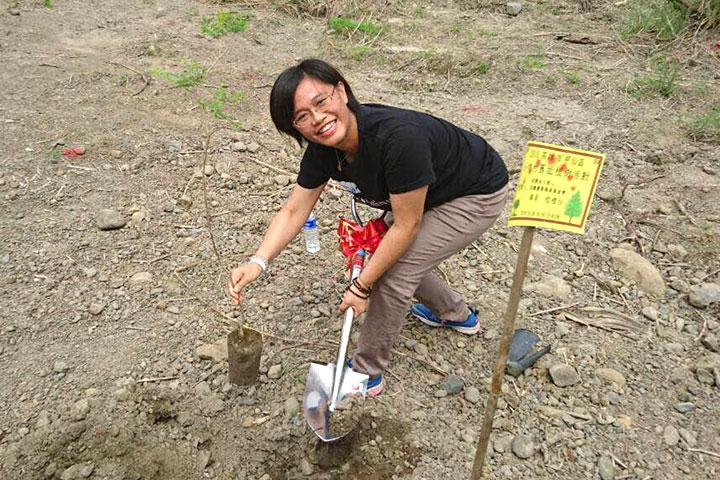種樹計畫專案總監程禮怡與大家分享種樹與氣候變遷的關係