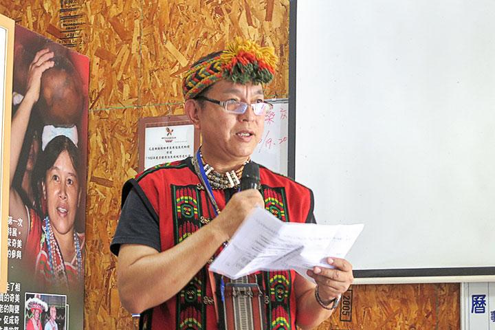 達魯瑪克部落產銷班班長潘王文賓分享六星計畫部落發展特色與亮點