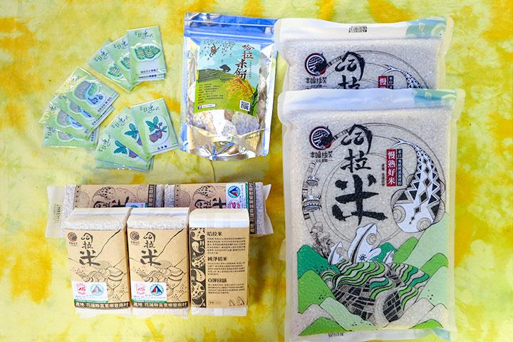 豐南(吉拉米代)部落六星計畫特色產品:哈拉米、哈拉米餅、梯田文化景觀手機擦拭貼