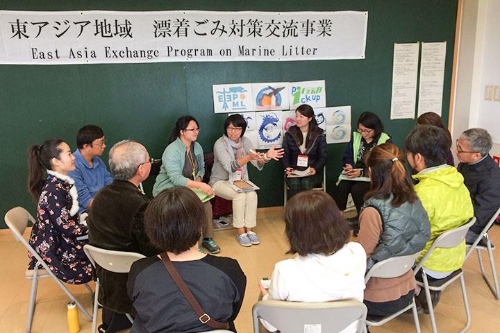 來自臺灣、中國、日本三地近30個單位分組交流減塑成果