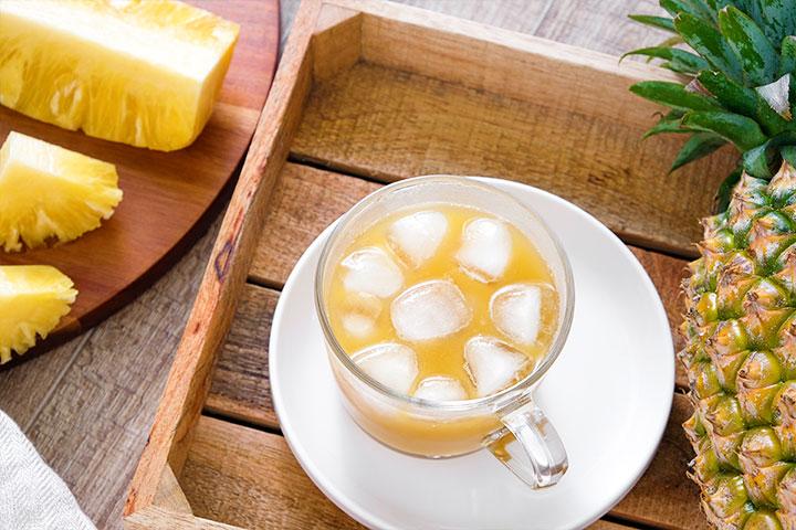 仁與生展公司合作,以冷壓鮮榨100%金鑽17號有機鳳梨汁