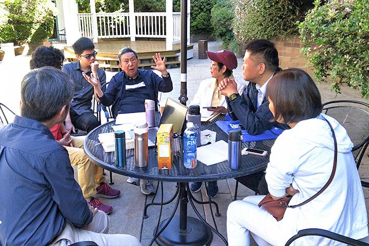 研討會結束隔天與王博士討論合作及邀訪事宜