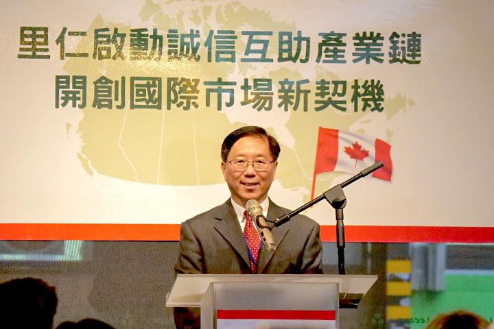 里仁公司副總經理韓敬白致詞,期許將里仁在台灣深耕的誠信互助產業鍊經驗拓展至國際,帶動全球有機產業永續發展,提供全世界消費者更多元優質的選擇。