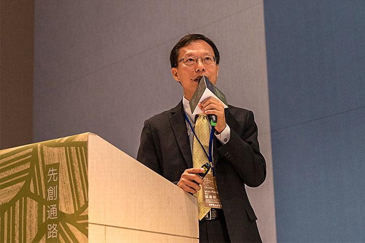 慈心基金會執行長蘇慕容說明水源保護區如何成為政府推動的國土綠網計畫中的一環
