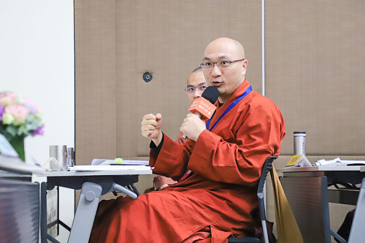 福智僧團法師參與工作坊與學者互動