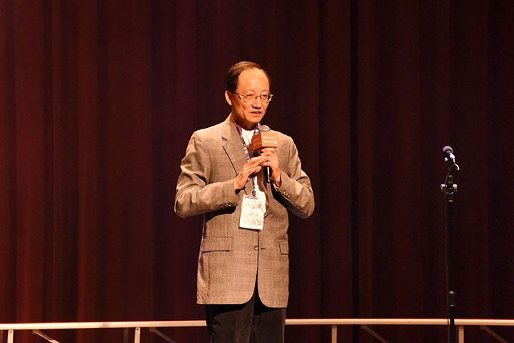 福智文教基金會執行長郭基瑞說明舉辦「心 24 孝」孝行楷模的用意,期許能為臺灣帶來正面的影響力,共創祥和社會