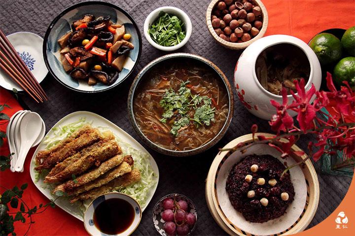里仁安心團圓蔬食年菜,每一口都充滿大地生命力