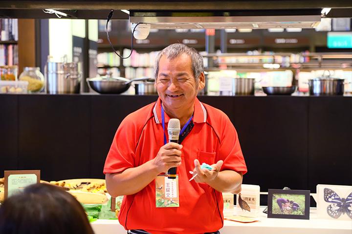 臺南官田菱角農友王耀文,分享加入慈心綠色保育計畫後,保護水雉的心路歷程