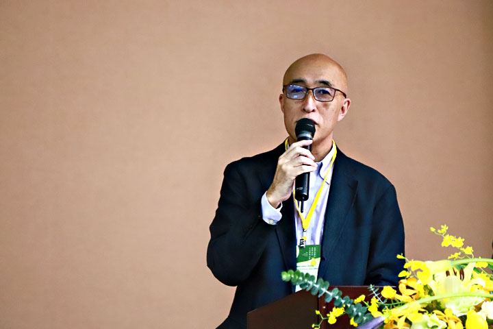 日本靜岡縣駐台辦事處宮崎悌三處長,分享靜岡茶的推廣經驗