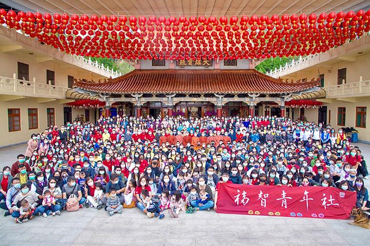 「2021福智青年寺院參訪」行程精彩豐富,3月20日逾700位福智青年及校友前往新竹鳳山寺及屏東南海寺參加