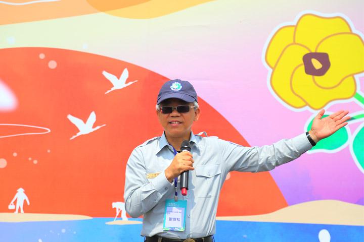 台江國家公園管理處處長謝偉松說明與慈心有機農業發展基金會合作造林的緣起