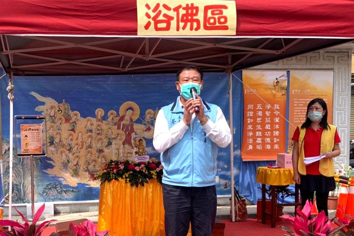 金門縣民政處處長蔡西湖蒞臨福智佛教基金會「2021福智幸福列車」活動致詞