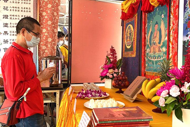 福智佛教基金會於金門舉辦「2021福智幸福列車」活動圓滿,民眾虔誠向佛菩薩祈願世界災疫早日平息