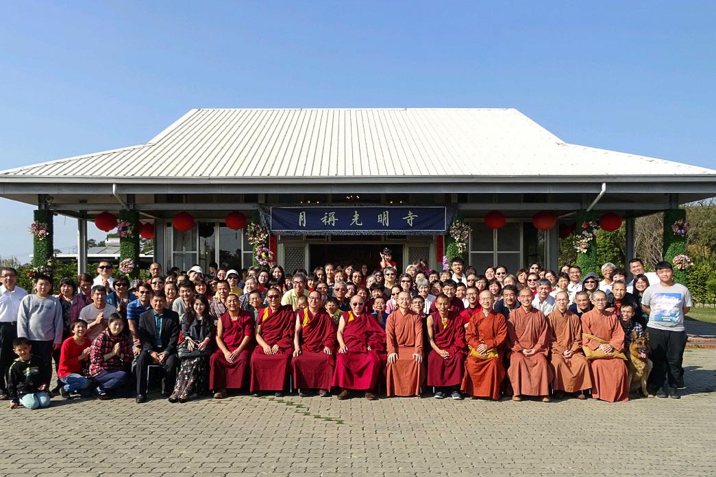 2018 年 2 月 19 日,哲蚌赤巴仁波切參訪根本道場。
