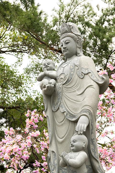 造像師傅與其妻雙雙在泥塑階段夢到菩薩告知:「你孫子要來了!」後來果然成真。